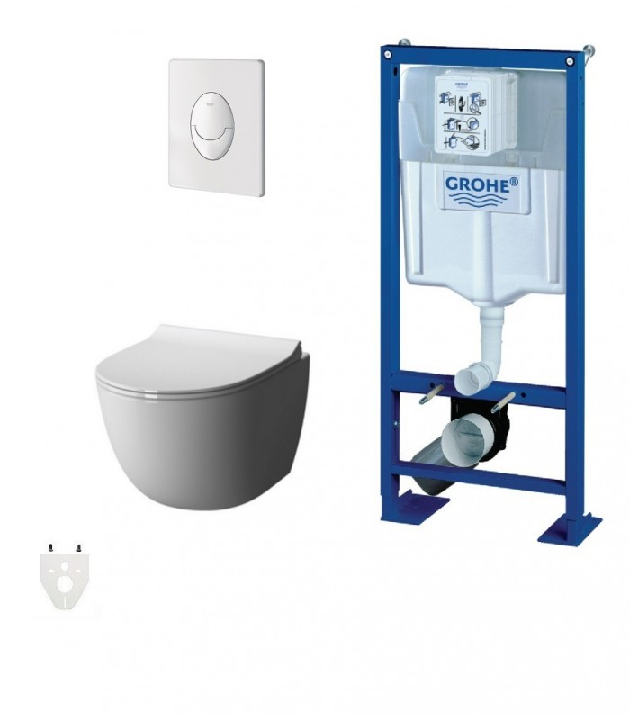 pack wc suspendu grohe daily 39 o sans bride courte grohe. Black Bedroom Furniture Sets. Home Design Ideas
